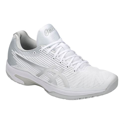 Asics Solution Speed FF Mens Tennis Shoe - White/Silver