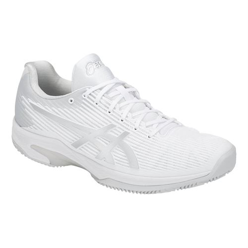 0035980d0547 Asics Solution Speed FF Clay Mens Tennis Shoe - White Silver