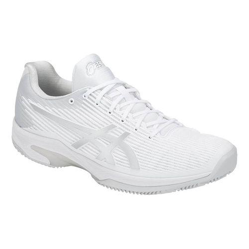 9496b61b3c46 Asics Solution Speed FF Clay Mens Tennis Shoe - White Silver
