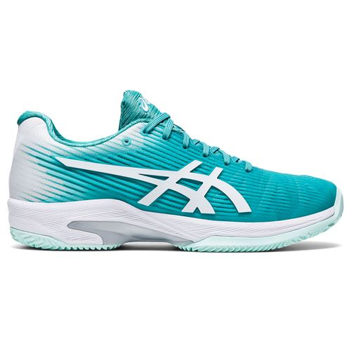 Asics Solution Speed FF Clay Womens Tennis Shoe Techno Cyan/White 1042A003 300