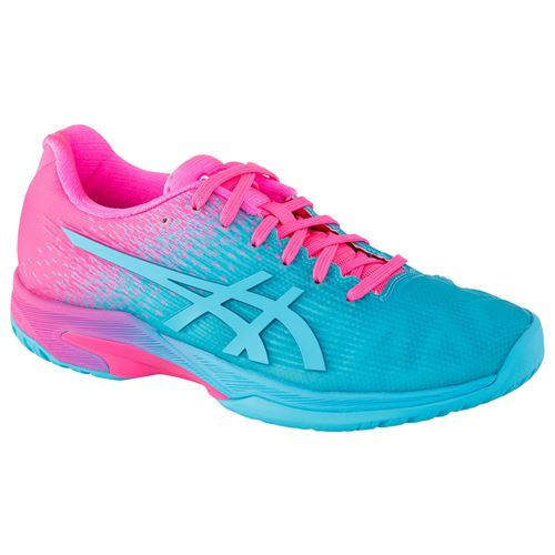 Asics Solution Speed FF Limited Edition Womens Tennis Shoe - Aquarium/Hot Pink