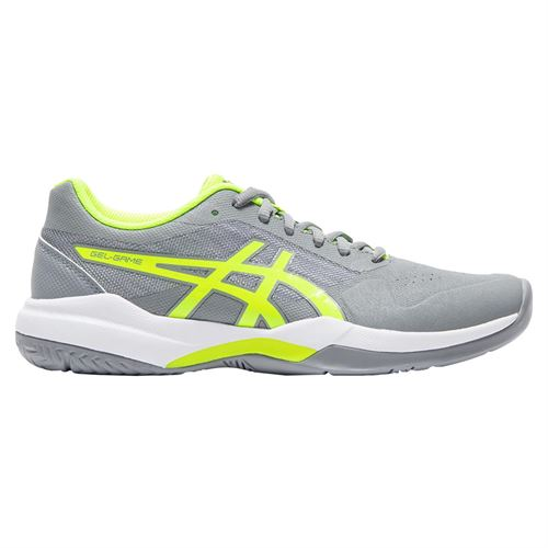 Asics Gel Game 7 Womens Tennis Shoe - Stone Grey/Safety Yellow