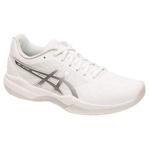 Asics Gel Game 7 Womens Tennis Shoe - White/Silver