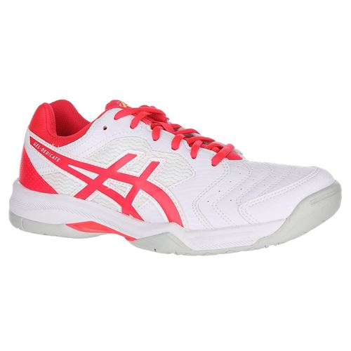 Asics Gel Dedicate 6 Womens Tennis Shoe - White/Laser Pink