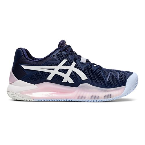 Asics Gel Resolution 8 Clay Womens Tennis Shoe Peacoat/White 1042A070 401