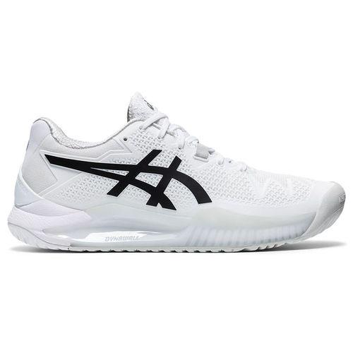 Asics Gel Resolution 8 Womens Tennis Shoe White/Black 1042A072 101