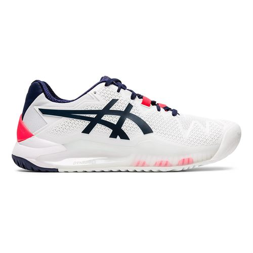 Asics Gel Resolution 8 Womens Tennis Shoe White/Peacoat 1042A072 103