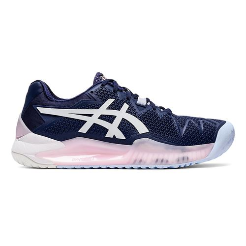 Asics Resolution 8 Womens Tennis Shoe Navy/White/Pink 1042A072 401