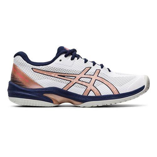 Asics Court Speed FF Womens Tennis Shoe White/Rose Gold 1042A080 103