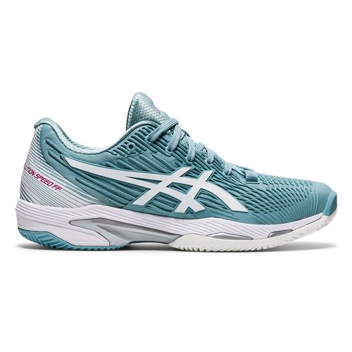 Asics Solution Speed FF 2 Clay Womens Tennis Shoe Smoke Blue/White 1042A134 400