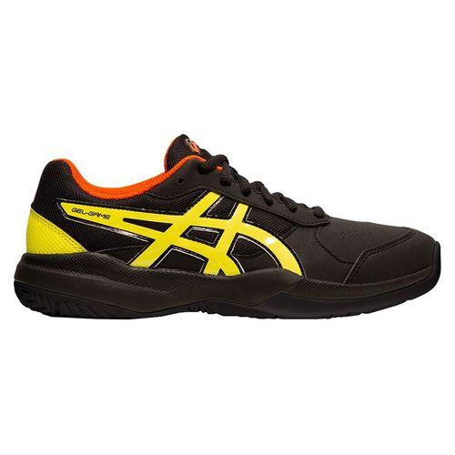 Asics Gel Game 7 GS Junior Tennis Shoe - Black/Sour Yuzu