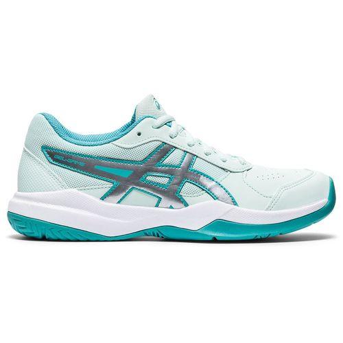 Asics Gel Game 7 GS Junior Tennis Shoe Bio Mint/Pure Silver 1044A008 301