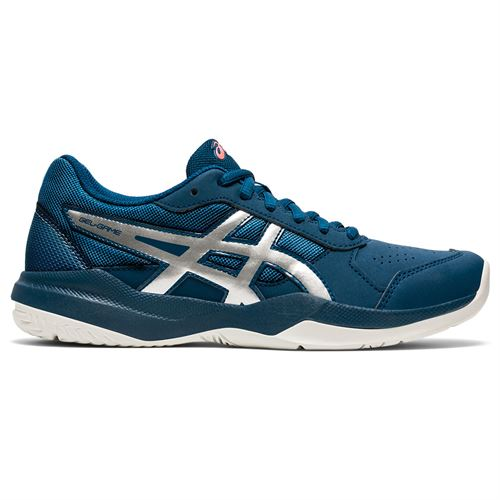 Asics Gel Game 7 GS Junior Tennis Shoe Mako Blue/Pure Silver 1044A008 402