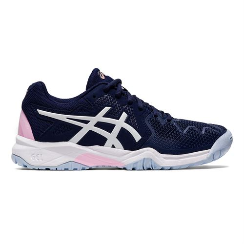 Asics Junior Gel Resolution 8 GS Tennis Shoe Peacoat/Cotton Candy 1044A018 401