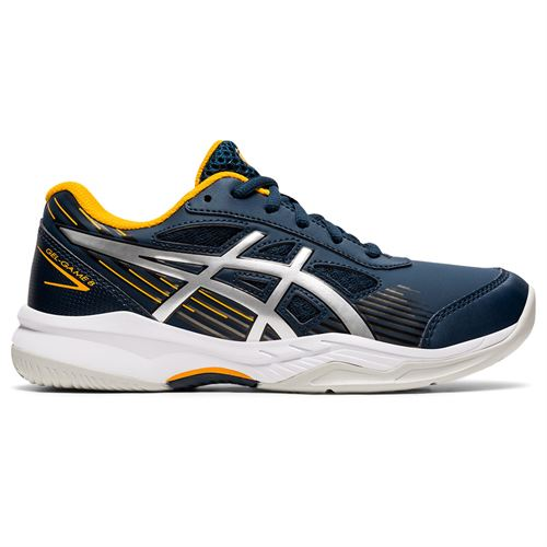 Asics Junior Gel Game 8 GS Tennis Shoe French Blue/Pure Silver 1044A025 400
