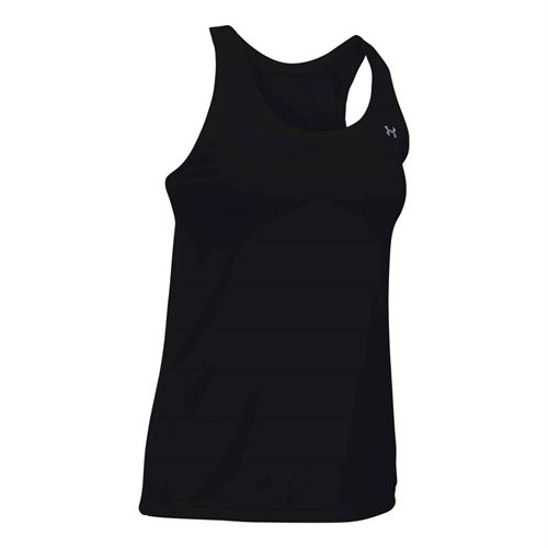 Under Armour Tech Tank - Black/Metallic Silver