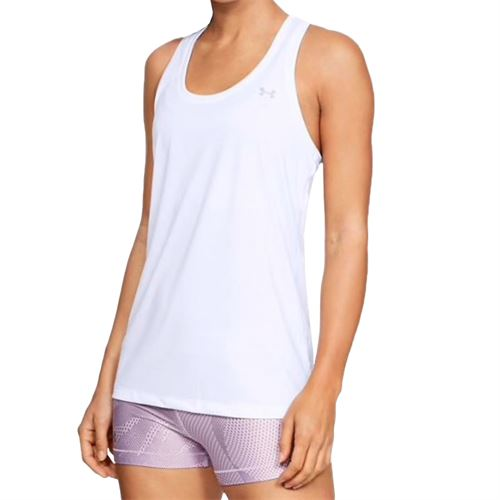 Under Armour Tech Tank - White/Metallic Silver