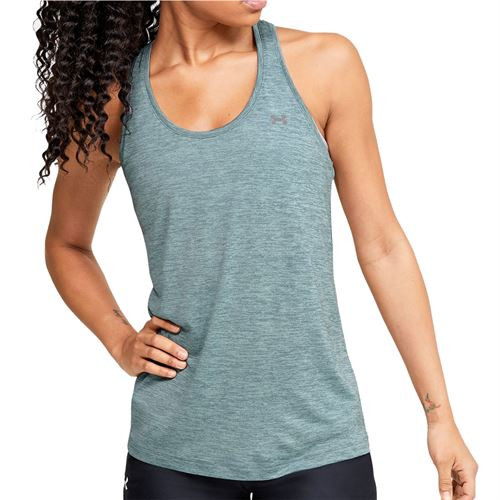 Under Armour Tech Twist Tank Womens Hushed Turquoise/Metallic Silver 1275487 396