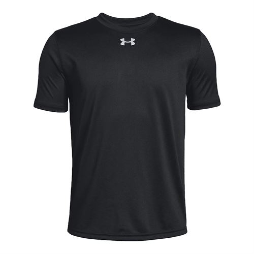 Under Armour Boys Locker 20 Tee Shirt Black/Metallic Silver 1305845 001