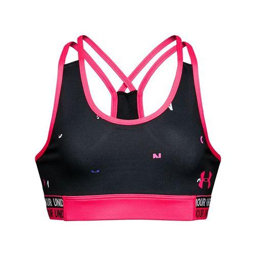 Under Armour Girls Heatgear Novelty Bra - Black/Penta Pink