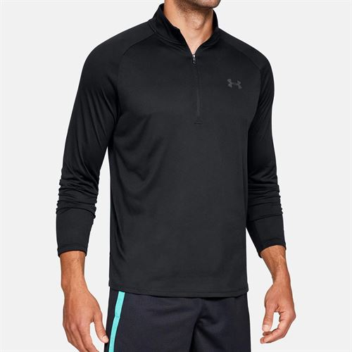 Under Armour Tech 2.0 1/2 Zip Long Sleeve Pullover Mens Black/Charcoal 1328495 001