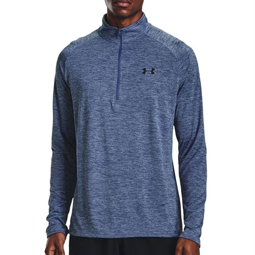 Under Armour Tech 2.0 1/2 Zip Long Sleeve Pullover Mens Mineral Blue/Black 1328495 470
