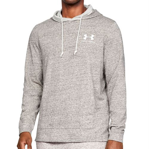Under Armour Sportstyle Terry Hoodie Mens Onyx White 1329291 112