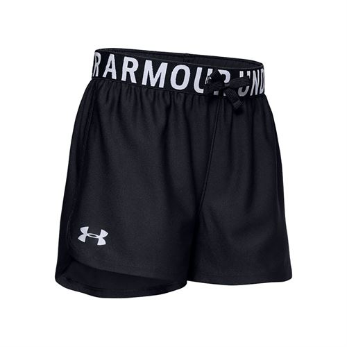 Under Armour Girls Play Up Solid Short Black/Metallic Silver 1351714 001