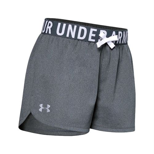 Under Armour Girls Play Up Solid Short Pitch Gray/Light Heather/Metallic Silver 1351714 012