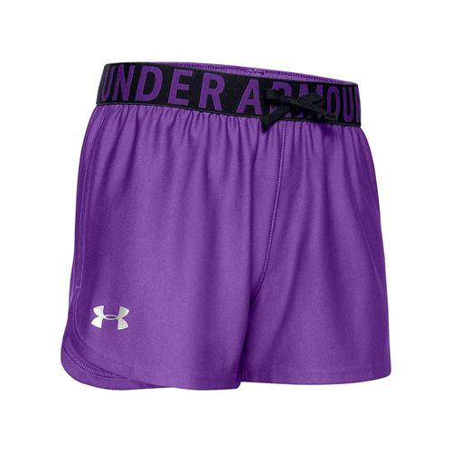 Under Armour Girls Play Up Solid Short Purple Pop/Metallic Silver 1351714 546