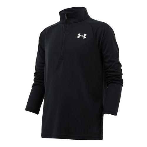 Under Armour Boys Tech 20 1/2 Zip Pullover Black/White 1355589 001