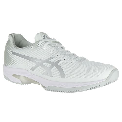 cc120d2774c5 Asics Solution Speed FF Clay Womens Tennis Shoe - White Silver