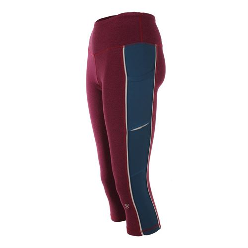 Sofibella Flavor of Wine Fleece Capri - Wine/Tropico Blue