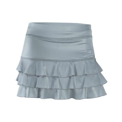 Sofibella Triple Ruffle 13 Inch Skirt - Metallic Ice