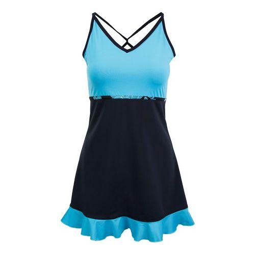 Jerdog Tropic Mist New Twist Dress - Black/Turquoise