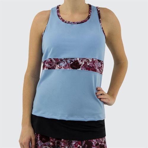 Jerdog Textured Garden T Back Tank Womens Icy Blue/Textured Garden Print 17288 TG2û