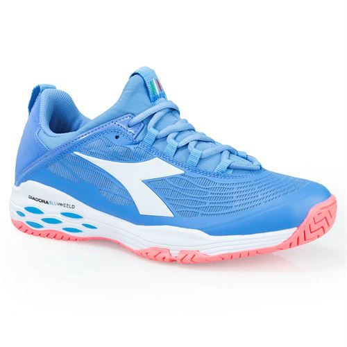 Diadora Speed Blushield Fly AG Womens Tennis Shoe - Iris Blue/Fluor Coral/White