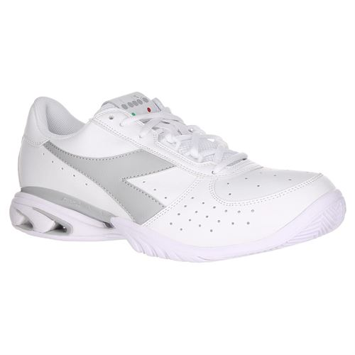 Diadora Speed Star K Elite AG Womens Tennis Shoe - White/Silver