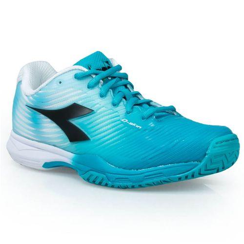 Diadora S Competition Womens Tennis Shoe - Ceramic Blue/White