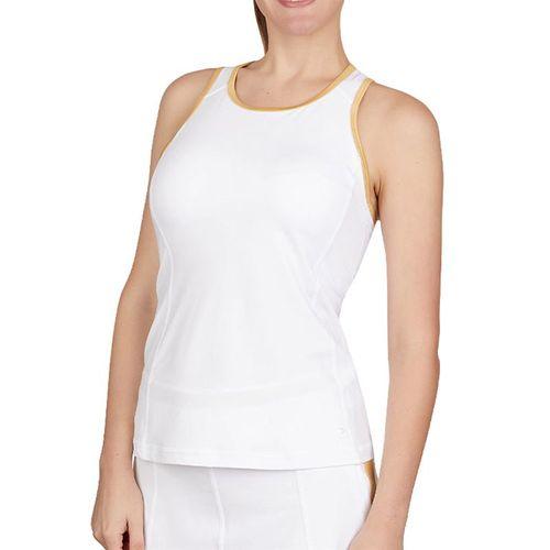 Sofibella Club Lux High Neck Tank Womens White/Gold 1739 WHT