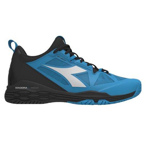 Diadora Speed Blushield Fly 2 AG Mens Tennis Shoe - Black/Malibu Blue/White