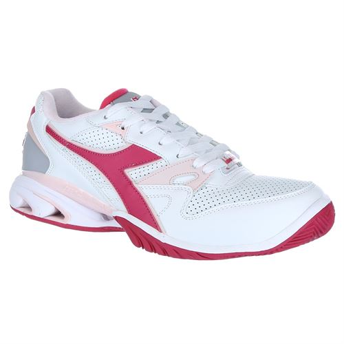 Diadora Star K Ace Womens Tennis Shoe - White/Pink/Red