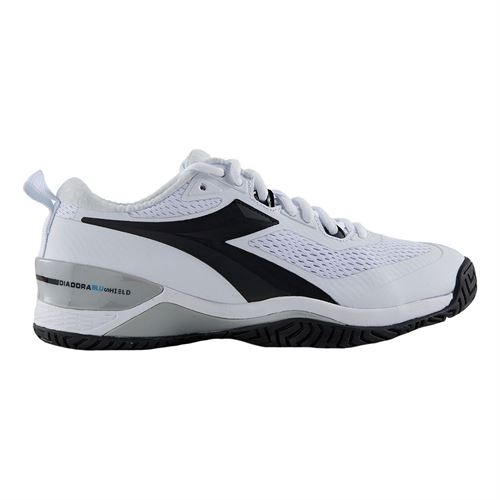 Diadora Speed Blushield 4 Womens Tennis Shoe White/Black 175566 C0351