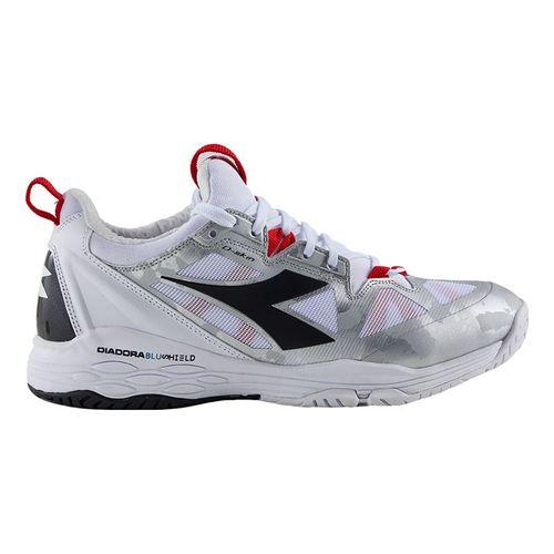 Diadora Speed Blushield Fly 2 Womens Tennis Shoe White/Black/Red 175572 C8364