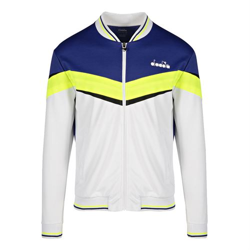 Diadora Jacket Mens Bright White/Royal Blue 175669 C8351