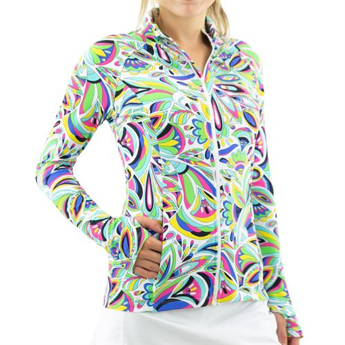 IBKUL Full Zip Jacket Womens Watermelon/Multi 18403 WMU