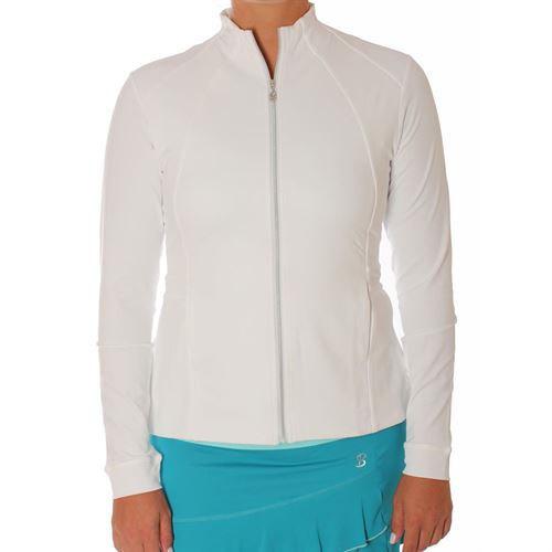 Sofibella Harmonia Pleated Peplum Jacket - White
