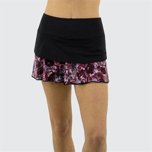 Jerdog Textured Garden Back Swing Skirt Womens Black/Textured Garden Print 18608 TG1û