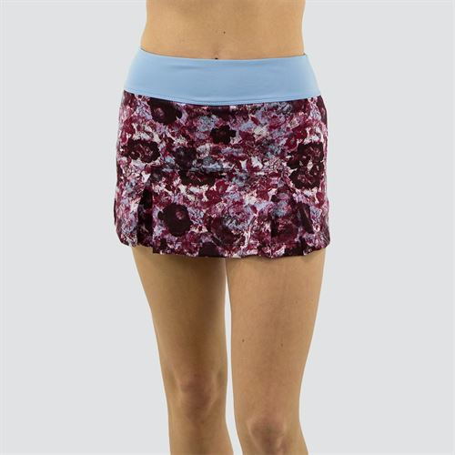 Jerdog Textured Garden Pleat Skirt Womens Textured Garden Print/Icy Blue 18708 TG1û