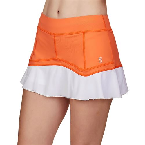 Sofibella Love At First Serve 13 inch Skirt Womens Nectarine/White 1919 NEC
